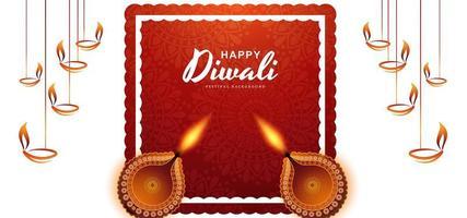 conception de voeux festive pour fond de diwali heureux