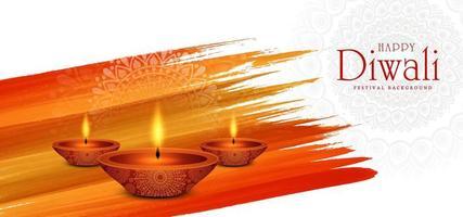 fond de festival de diwali lampe allumée créative