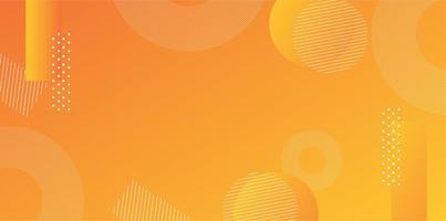 disposition de vecteur de fond dégradé jaune orange