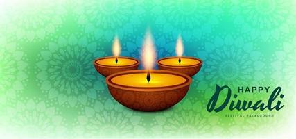 vecteur de fond festival diwali