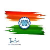 vecteur de la fête de l'indépendance indienne abstraite