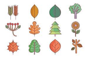 jeu d'icônes automne mignon