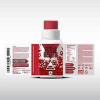 conception d'étiquettes de bouteille, modèle de conception d'emballage, conception d'étiquettes, maquette d'étiquette de conception modèle de vecteur gratuit