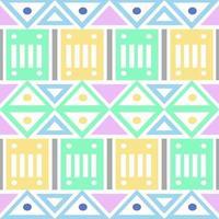 sans soudure de fond natif multicolore avec forme géométrique