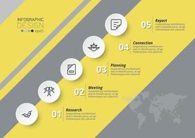 marketing de plan d'affaires avec des processus de travail décrits ou des rapports d'analyse. vecteur