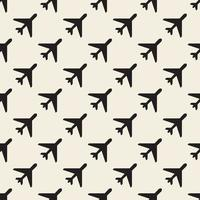 motif de timbre avion monochrome transparente