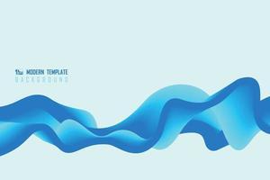 bleu dégradé abstrait de fond de conception de modèle ondulé. illustration vectorielle vecteur