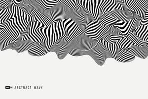 fond abstrait décoration 3d minimaliste noir et blanc. illustration vectorielle