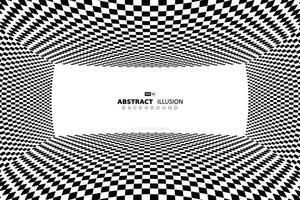 fond de conception optique abstraite motif carré noir et blanc. illustration vectorielle