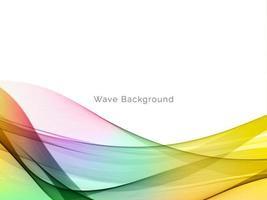 abstrait de style vague de mouvement coloré