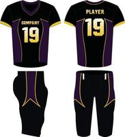 conception de sport de maillot de football américain