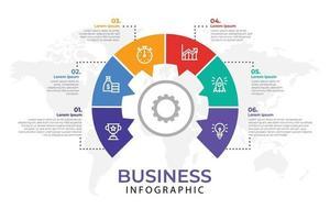modèle d'élément infographique d'entreprise, modèle de processus d'étape