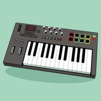 clavier midi, parfait pour l'industrie de la musique vecteur