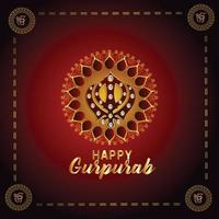 fond créatif avec symbole sikh ek onkar happy gurpurab