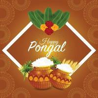 joyeuse fête du festival indien pongal