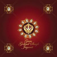 joyeux gourou gobind singh jayanti fond de célébration