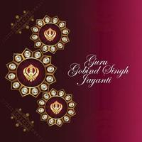 festival sikh, joyeux gourou gobind carte singh jayanti