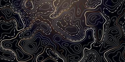 abstrait avec contour topographique doré. vecteur