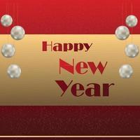 conception de texte doré bonne année vecteur