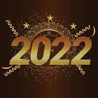 bonne année 2022 conception de texte doré vecteur