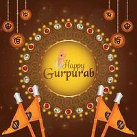 fond de célébration joyeux gurpurab vecteur