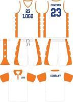 modèles de maquettes d'uniformes de basket-ball de conception personnalisée vecteur