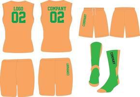 uniformes de basket-ball et maquettes de chaussettes vecteur