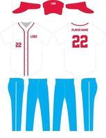 maquettes d'uniformes de maillot de baseball de conception personnalisée vecteur