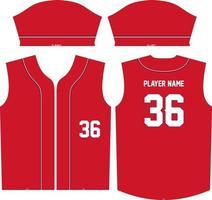 conception de modèle d'illustration de maillot de baseball vecteur