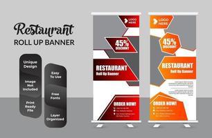 nourriture roll up banner pour restaurant set vecteur