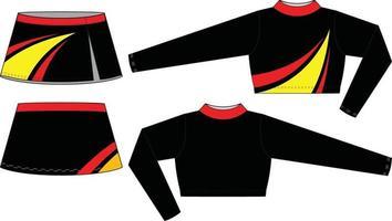 modèles de maquettes sublimées uniformes cheer vecteur
