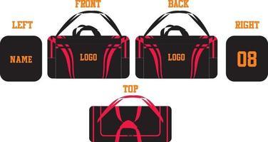 sacs polochons maquettes de conception de sport vecteur