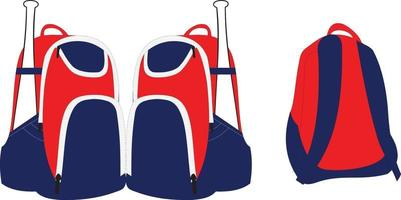 illustrations de sacs à dos de sport vecteur