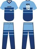 maquettes de chemises et pantalons de baseball vecteur
