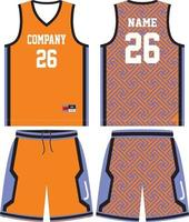 conception d'uniforme de basket-ball pour club de basket