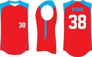 maquettes en jersey de baseball sans manches sublimées vecteur