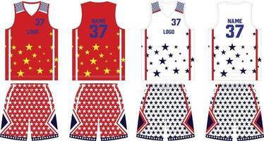 maillot et short d'uniforme de basket-ball réversible