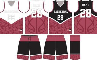 conception de maquette d'uniforme de basket-ball pour club de basket-ball