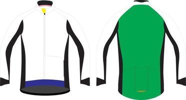 veste polaire de cyclisme pour hommes illustrations de maquettes vecteur