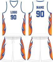 conception de maquette d'uniforme de basket-ball pour club de basket-ball vecteur