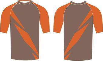 chemise de compression pour hommes maquettes de conception personnalisée vecteur