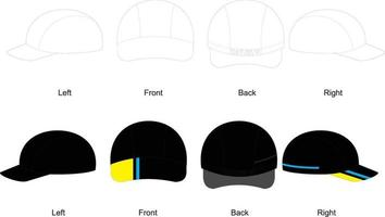 casquettes de cyclisme, design vierge vecteur