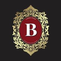 modèle de conception de crêtes, logo vintage de luxe ornement, crête de monogramme pour restaurant, immobilier, spa, identité de marque de mode vecteur