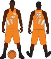 ensemble uniforme de conception de t-shirt de basket-ball vecteur