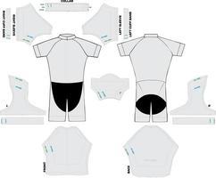 maquettes de costume professionnel à manches courtes vecteur