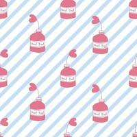 fond transparent Saint Valentin avec main dessiner plante coeur rose dans une bouteille