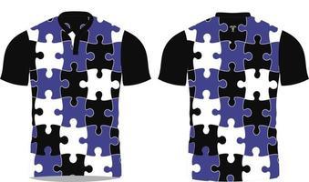 chemises sublimées de rugby design personnalisé vecteur