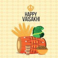 joyeuse célébration du design plat vaisakhi