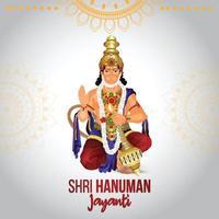 illustration vectorielle de lord hanuman jayanti célébration et arrière-plan vecteur