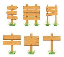 collection de jeux de panneaux en bois vecteur